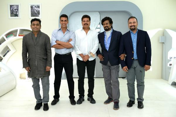 First look poster of Rajinikanths 2o to be released in September