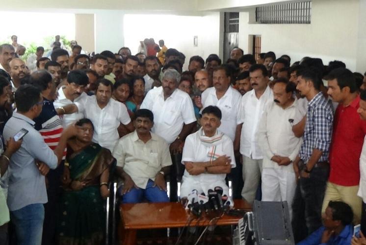 DK Shivakumar calls urgent press meet accuses Centre of using CBI to target him