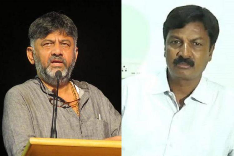 DK Shivakumar and Ramresh Jarkihili Collage