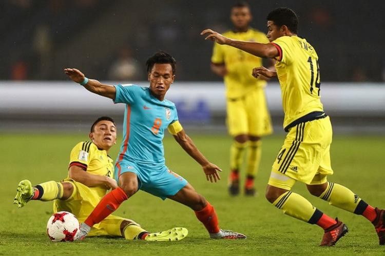 India scores its first ever goal in FIFA World Cup U-17 side goes down fighting to Colombia