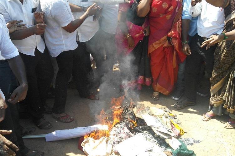 DMK protests across TN demands H Rajas arrest over illegitimate child jibe