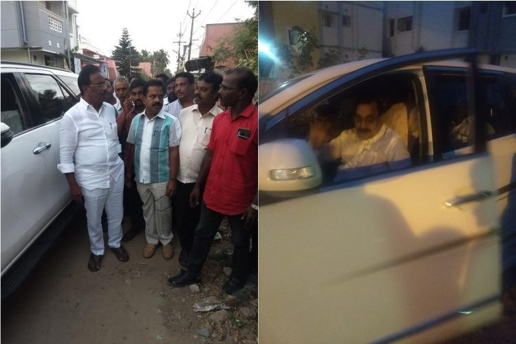 AIADMK MP DMK MLA visit IAF Wing Commander Abhinandans parents in Chennai