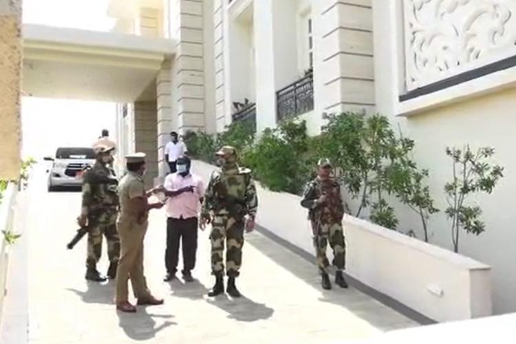 I-T department conducting raids in Tamil Nadu