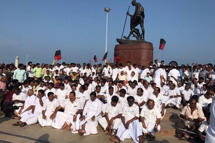 DMKs hunger strike on February 22 against what happened in TN assembly