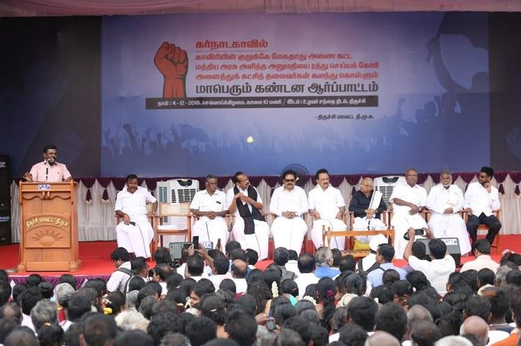 How will lotus bloom without water Stalin hits out at BJP for Mekedatu project