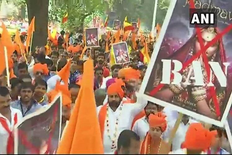Anti-Padmavati protests hit Bengaluru Hindu groups threaten violence if film releases