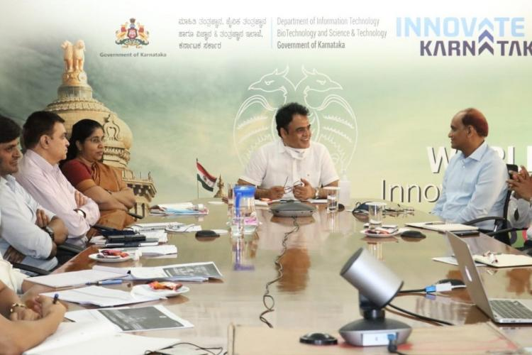 The deputy cheif minister chairs a meeting for bangaluru tech summit