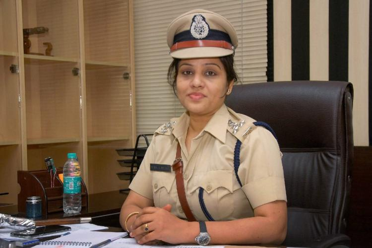A file photo of D Roopa Moudgil at her office in Bengaluru