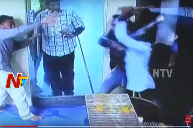 Caught on cam Asked for payment 3 men beat and stab cashier of Hyderabad snooker parlour