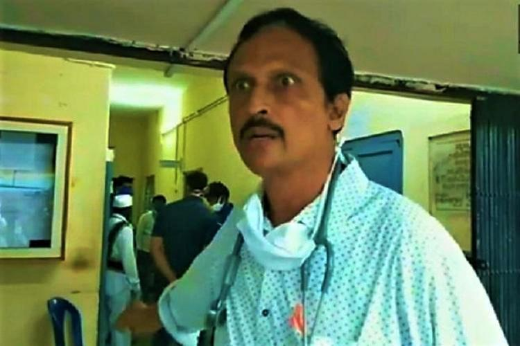 Dr Sudhakar complaining about the lack of PPE kits