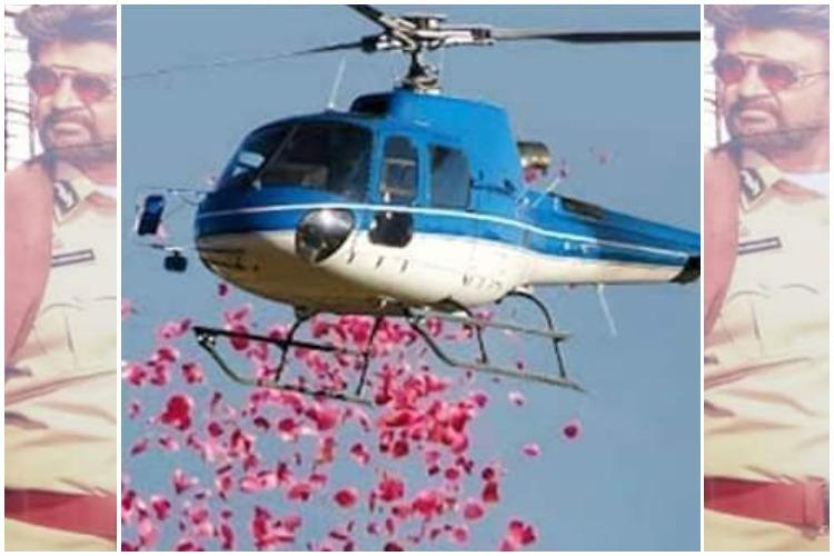 From helicopter flower shower to SIM cards its celebration time for Darbar fans
