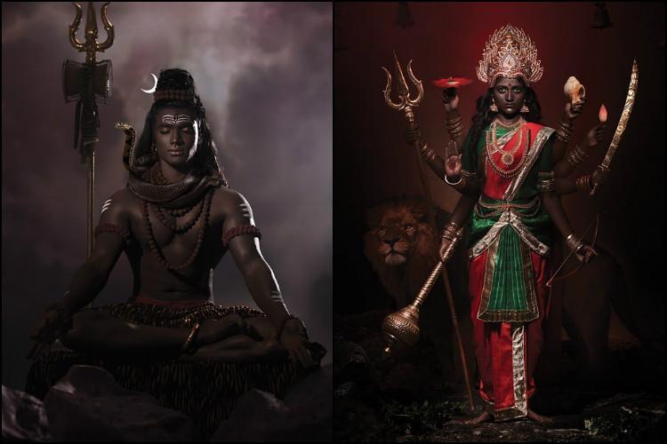 Dark is divine Chennai duos photo series reimagines gods with dark skin