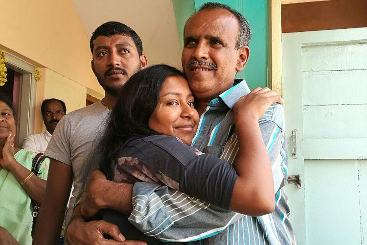 Adopted Indian woman meets biological father in Bengaluru after 23 years in an emotional reunion