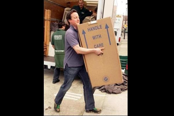 The truth behind that viral image of former Brit PM Cameron moving out