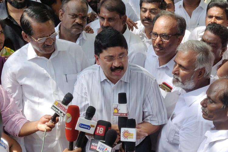 Dayanidhi Maran hits out at AIADMK government BJP MPs jump in to defend ally