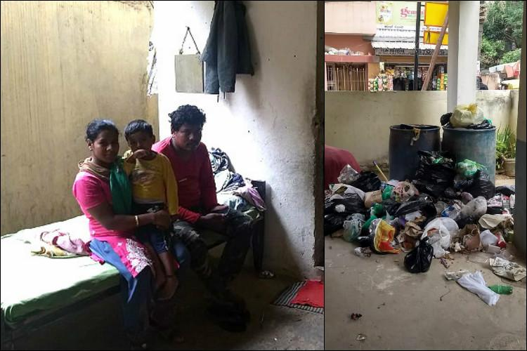 Have no option Apartment caretakers in Bluru locality must live near residents trash