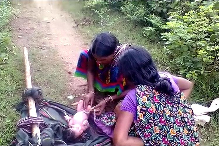 Woman forced to give birth on dirt path Will shocking video get AP village a road