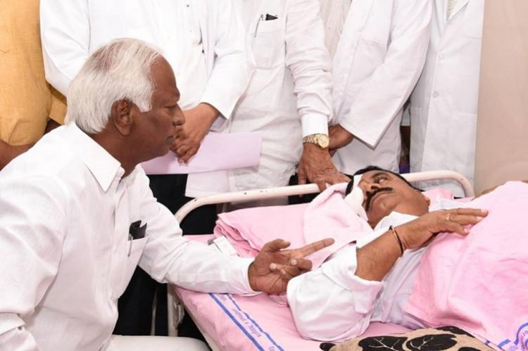 Ruckus in Telangana Assembly Congress MLAs hit back at TRS for alleging they were drunk