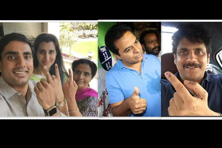 In pictures VIPs line up to cast their vote in GHMC elections