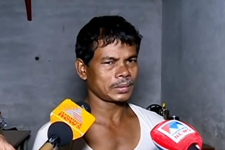 Balakrishna father of Devika- the tenth standard student in Malappuram who allegedly killed herself