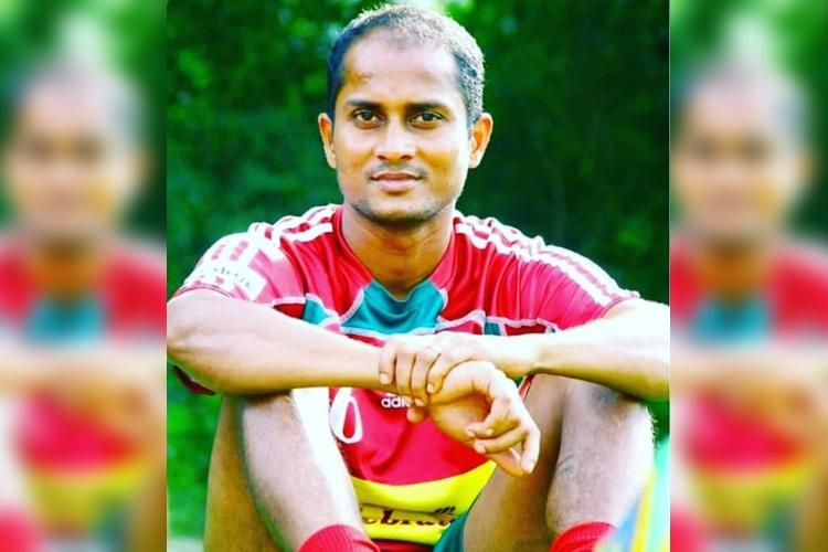 Footballer R Dhanarajan collapses and dies during a match in Kerala