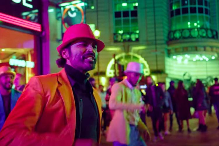 Dhanush in the song Bujji from Jagame Thandriam