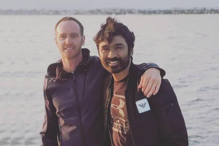 In Pics Dhanush begins shooting for The Gray Man in California