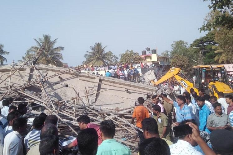 Two dead 53 injured after building collapse in Dharwad rescue operations continue