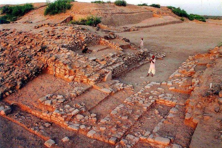 Dholavaria site in brown colour