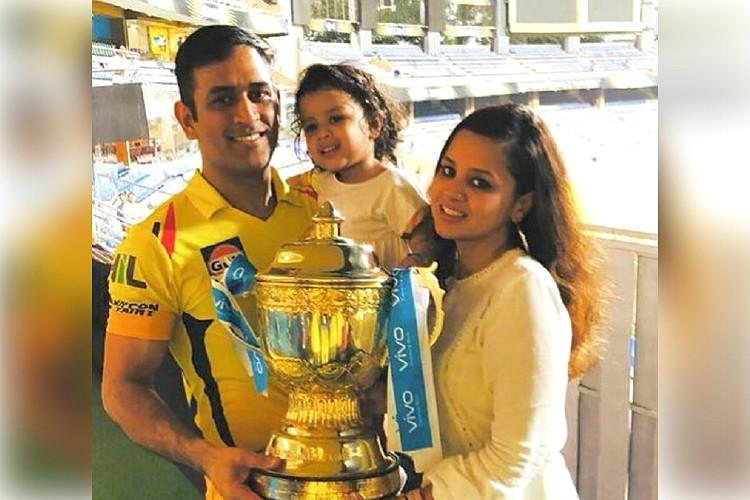 Watch As CSK lifts IPL trophy skipper Dhoni has eyes only for daughter Ziva