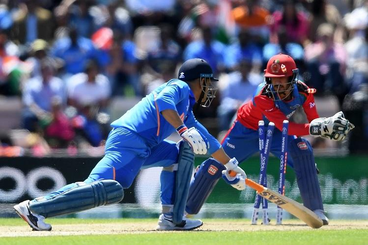 Ind vs Afg Dhoni draws flak on Twitter for his slow batting