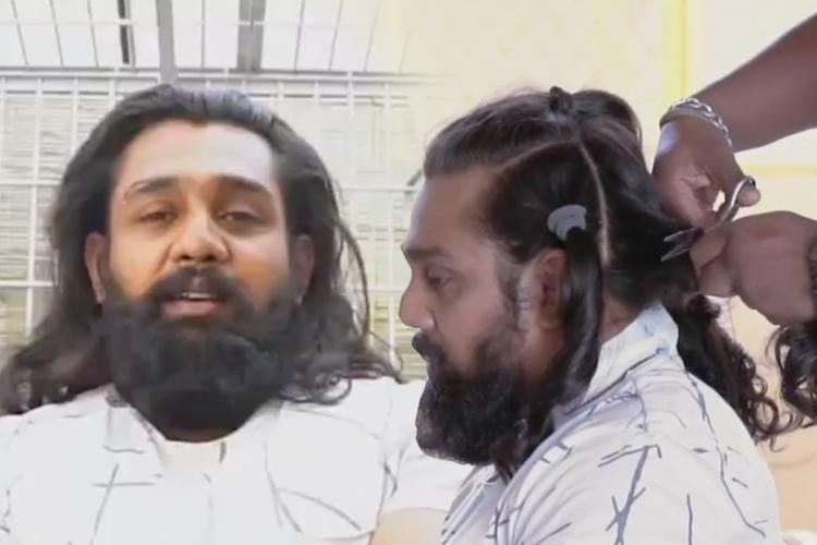 Video Dhruva Sarja gets haircut for cancer patients urges others to do the same