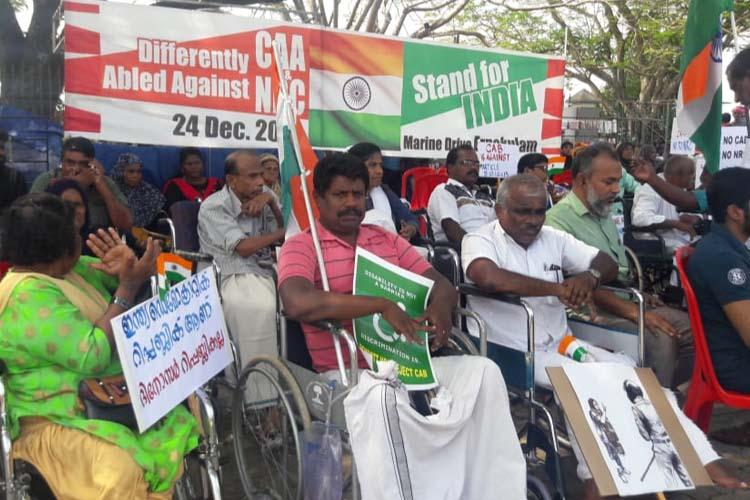Persons with disabilities protest against CAA NRC in Kochi