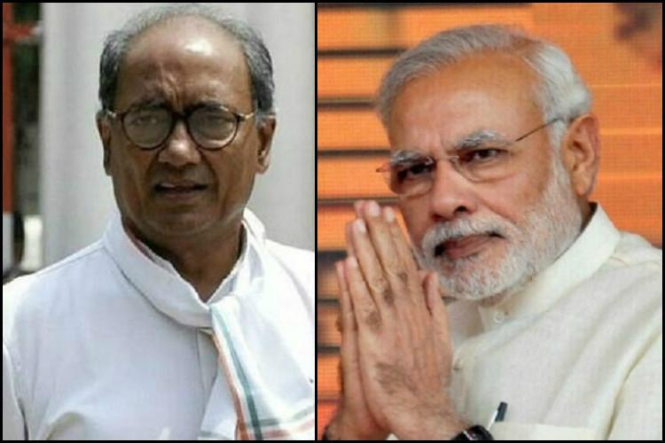 Digvijaya attacks Modi says India and Pak should fight hunger malnutrition not each other