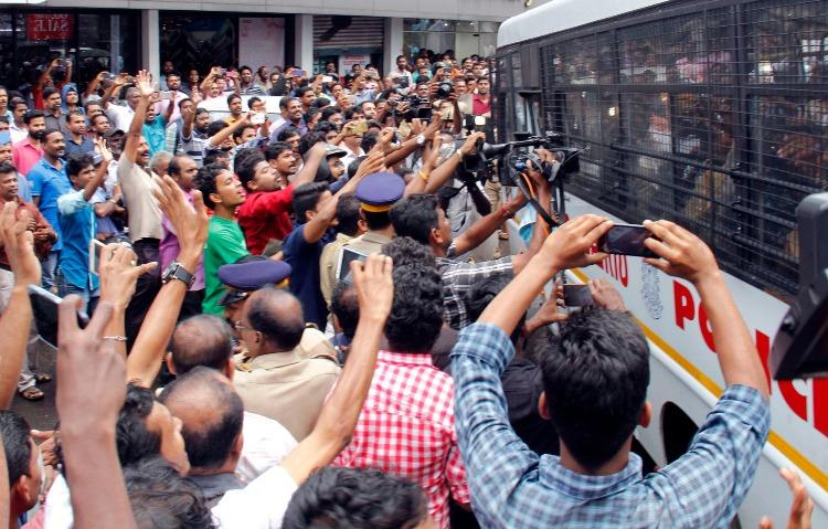 Ground report Once Janapriya Nayagan now Dileep gets booed by the people of Aluva