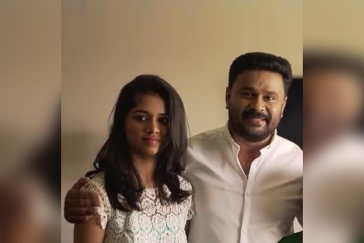 Meenakshi and Dileep standing together