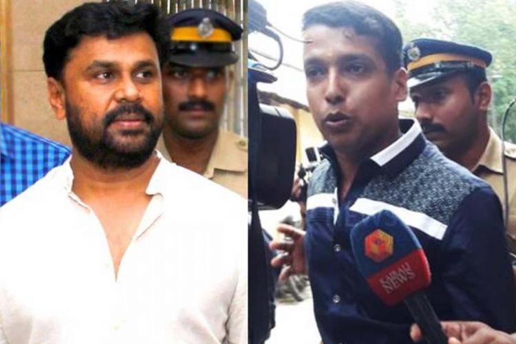 Collage of accused Dileep and Pulsar Suni