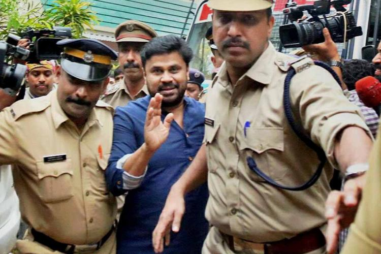 Malayalam actor Dileep who is an accused in Kerala actor assault case along with police officers