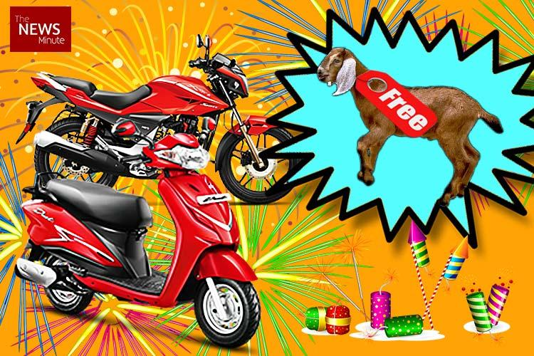 This TN motorcycle dealership had an unusual festive offer Buy a bike get a goat free