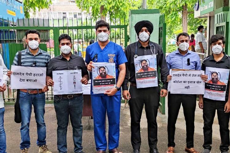 Resident doctors staging protests against Ramdev