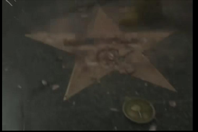 Trumps Hollywood Walk of Fame star vandalised