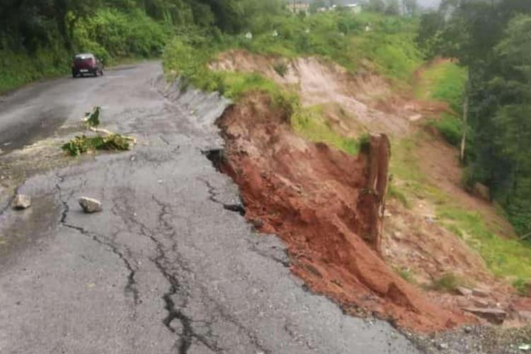 Heavy rainfall in coastal Karnataka trigerred landslide