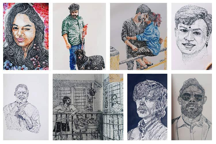 Say It With Dots Meet Kerala Artist Syam Whose Instagram