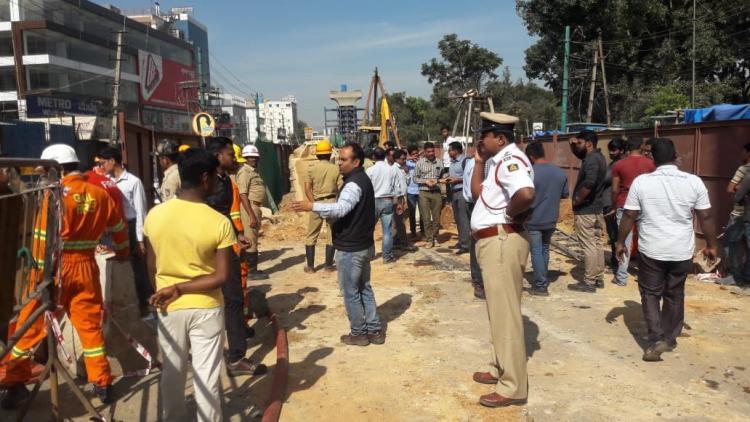 Metro work causes gas line leak in Bengaluru triggers panic and traffic snarl