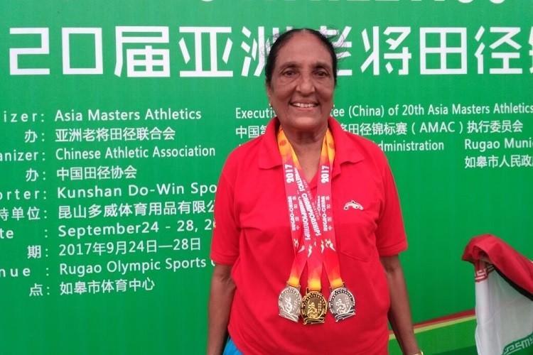 Remember Indias 80 year old athlete Coimbatores Dr Vasantha returns victorious from China