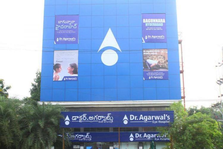Dr Agarwals Eye hospital building in Hyderabad