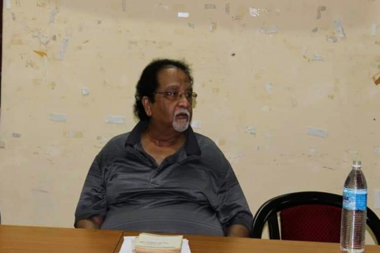 Dr Kolluri Chiranjeevi in a meeting at Osmania University