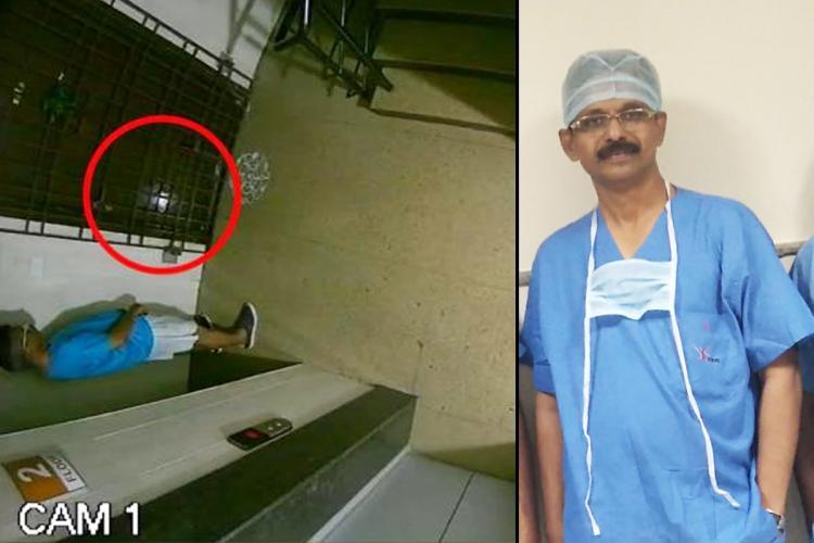 A man reportedly Dr Subbiah Shanmugan captured on the CCTV camera Dr Subbiah Shanmugan