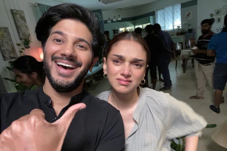 Dulquer Salmaan and Aditi Rao