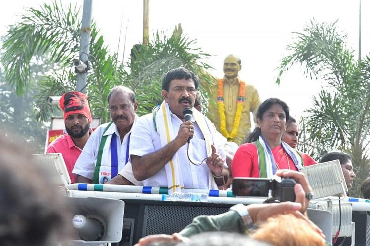 YSRCP MLA abuses Chandrababu Naidu amid protests over Andhra capital triggers row